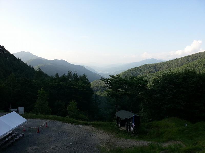 分杭峠からの眺め